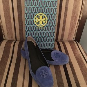 Tory Burch Blue suede shoes. Size 9.5